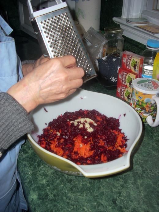 Grating the Garlic