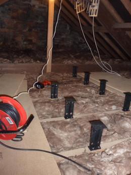 Loft Legs being installed