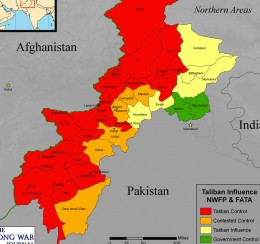 The current situation. Red areas are those under terrorist control with extreme Islamic law.Other areas are in varying degrees in their control.