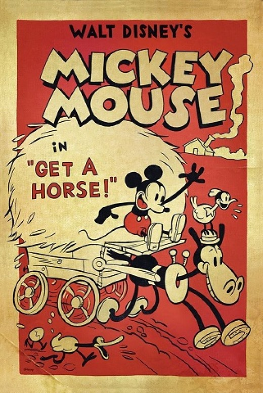 Get a Horse - the short Mickey Mouse cartoon that plays before the movie