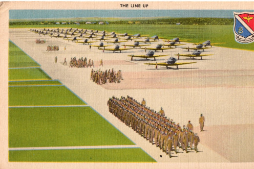 The aim of every man classified as a pilot at the San Antonio Aviation Cadet Center is to reach as quickly as possible the day when he and his classmates march to the flying line for the first time.
