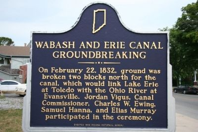Work on the Wabash & Erie Canal in 1832