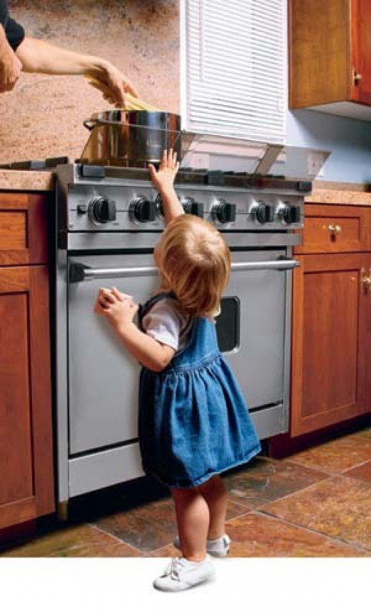 Children should not be allowed near hot stoves.