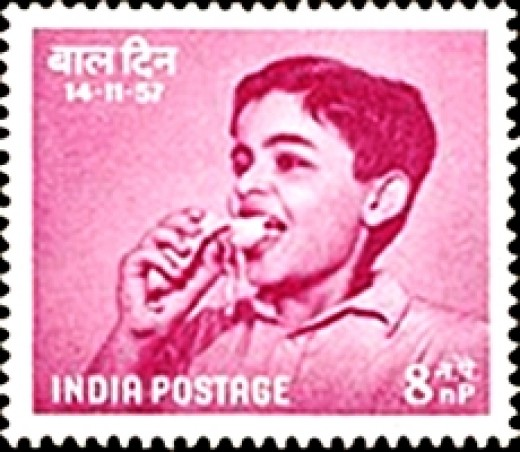 Children's Day Stamp of India, issued in 1957