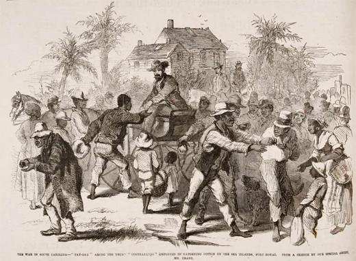Disbursement of pay to freedmen in Port Royal, SC