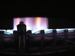Boiler flames.