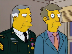Shown: The real Seymour Skinner (left) and impostor Armin Tamzarian  (right).