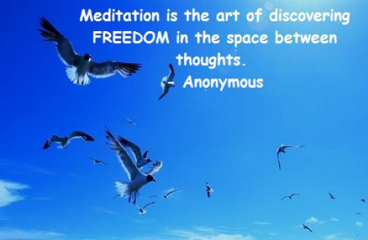 Meditation only means Freedom from thoughts!