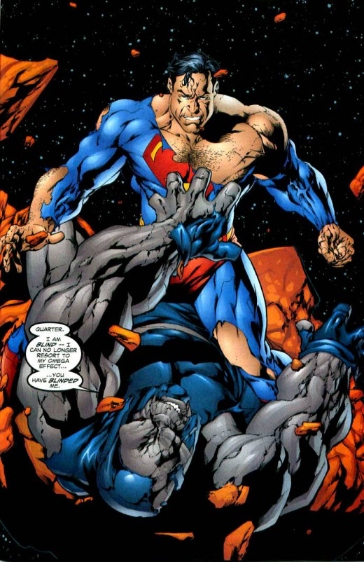 The Man of Steel beats Darkseid