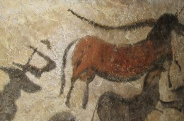 Cave art at Lascaux Cave in France.  Source: Wikimedia Commons, DaBler, Public Domain.
