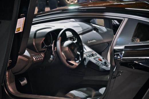 Lamborghini Aventador LP700-4 interior.