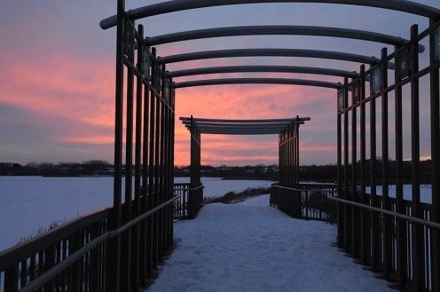 Purgatory Creek Park in winter, Eden Priaire.