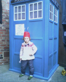 Dressed to travel in time and space.