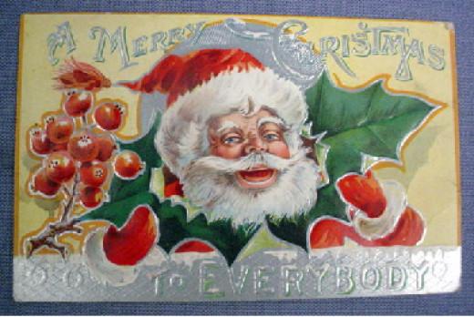 1900 Christmas Postcard
