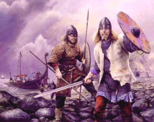 Viking landing - before Harald Sigurdsson came to claim the English crown he had been at war with the Danes, chasing Svein Estrithsson around the Danish isles and raiding