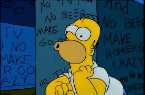 Homer Simpson going something something.