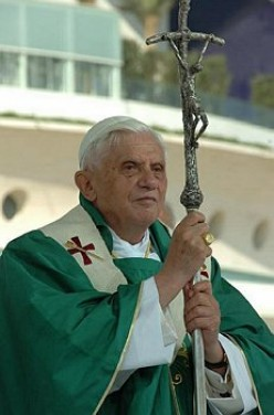 Pope Benedict XVI. (Image released by owner for any user, per Wikipedia.)