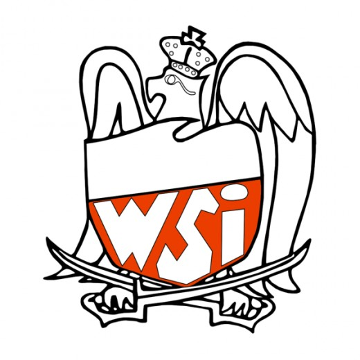 The emblem of the Polish Military Information Services may be suggestive of Andrew Mleczko satirical vein.