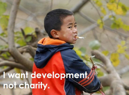 Poor don't need charity. They need Development.