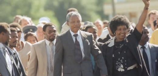 Nelson Mandela - release from prison 1990