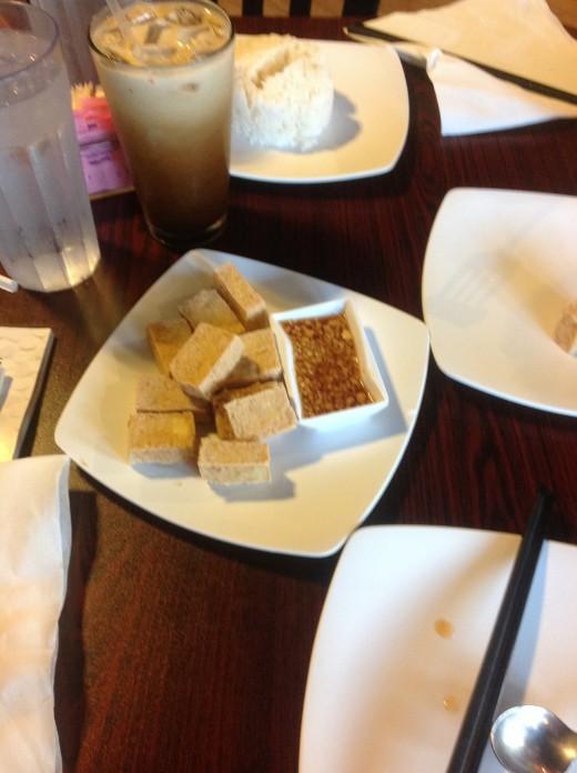 Crispy Tofu and Thai Iced Coffee.