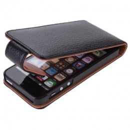Leather Flip Case for iPhone 5S