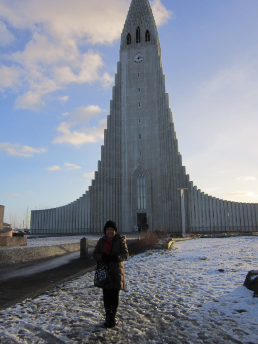 Church of Hallgrímur - a Lutheran Cathedral. One of the more imposing religious structures in Reykjavic.