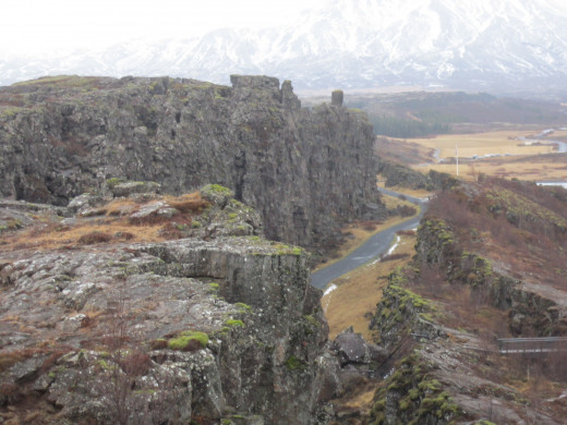 Continuation of the American Tectonic plates- Southern Iceland.