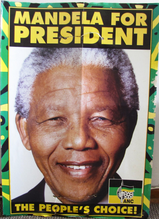 Election Poster for ANC in first free elections in South Africa-1994