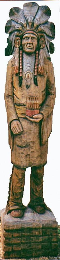 Wooden Cigar Store Indians