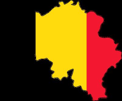 Belgium flag map