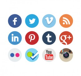 Social Network Follow Me Buttons