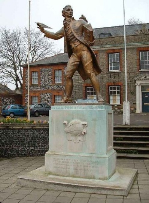 Statue of Thomas Paine in Thetford, Norfolk, England