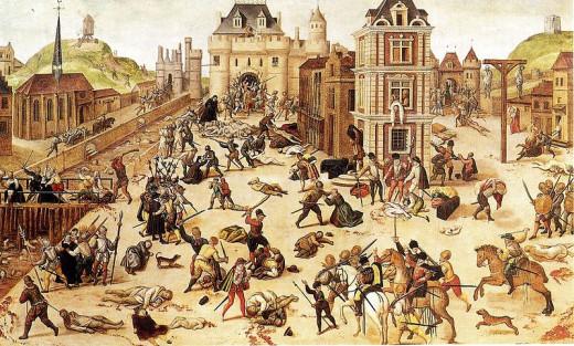 François Dubois ~ Saint Bartholomew's Day Massacre, ca. 1572-84, oil on panel