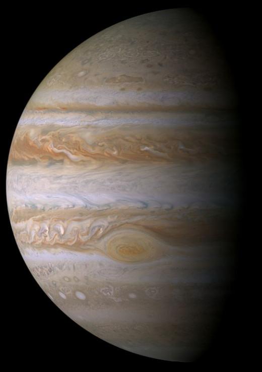 Jupiter as seen from Cassini
