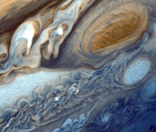 The Great Red Spot as Seen from Voyager 1