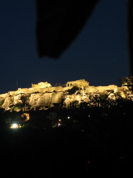 Todays Acropolis at night