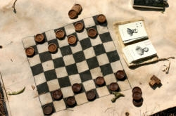 A checkers set
