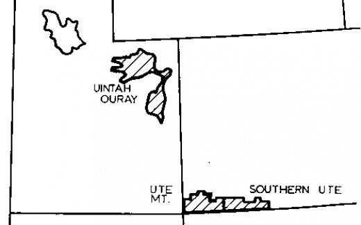 Map of the Ute