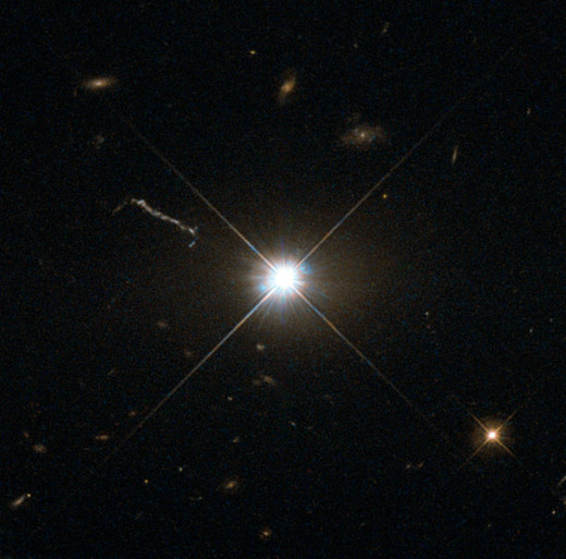 Image of Quaser 3C 273 taken by Hubble