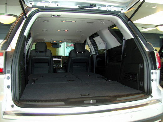 With both rear seats folded flat, Acadia offers up to 116 cubic feet storage