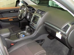 Acadia interior shows high level of finish, quality materials for a safe, relaxing environment.
