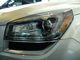 Acadia features smooth, projector beam headlight for a clear view of the road ahead