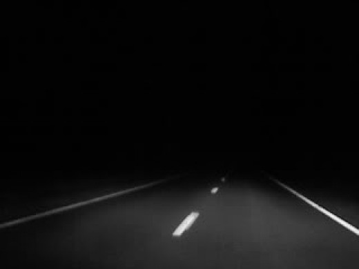 Lonely Highway at Night
