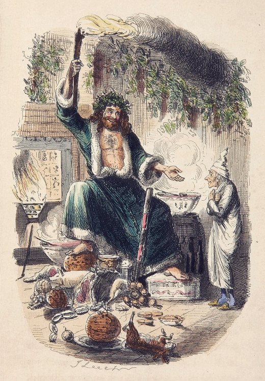 The Ghost of Christmas Present Illustrated by John Leech