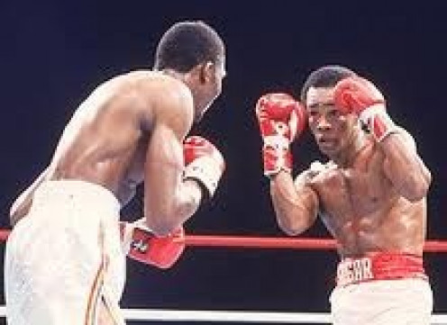 Sugar Ray Leonard fought Tommy Hearns twice, winning once and escaping with a draw in the rematch.