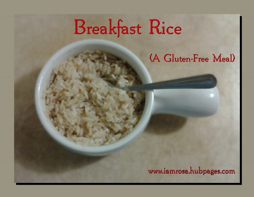Warm and scrumptious Breakfast Rice for a gluten-free meal.