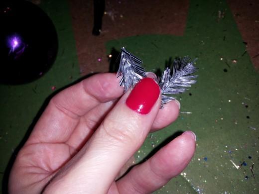 Fold garland in half