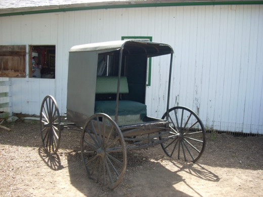 Typical Black Horse Drawn Carrigage
