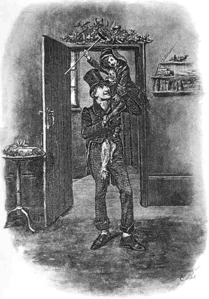 Bob Cratchit and Tiny Tim Illustrated by Fred Barnard